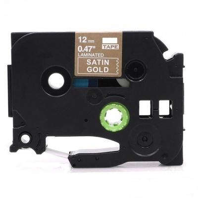 Banda compatibila Brother TZ-MQ835 / TZe-MQ835, 12mm x 5m, text alb / fundal auriu