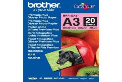 Brother BP71GA3 Glossy Photo Paper, hartie foto, lucios, alb, A3, 260 g/m2, 20 buc