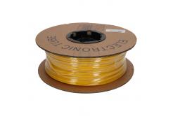 Tub de marcaj termocontractabil oval din PVC, profil PO, BF-50, 5 mm, 100 m, galben
