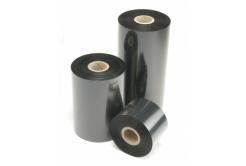 "TTR ribon, ceara (wax), 73mm x 74m, 1/2"", OUT, negru"