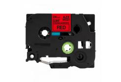 Banda compatibila Brother TZ-S451 / TZe-S451, 24mm x 8m, extr.adh. text negru / fundal rosu