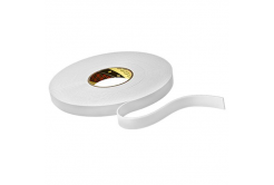 3M 9515W bandă adezivă dublă faţă-verso din spumă , alb, 15 mm x 33 m