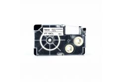Casio XR-18CL, 18mm x 4m, text negru / fundal alb, curatenie, banda compatibila