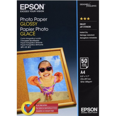 Epson S042539 Photo paper, hartie foto, lucios, alb, A4, 200 g/m2, 50 buc, S042539, imprimarea cu jet de cerneală