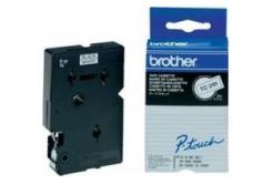 Brother TC-291, 9mm x 7,7m, text negru / fundal alb, banda original