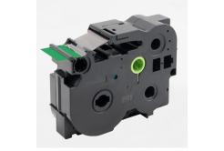 Banda compatibila Brother TZ-FX761 / TZe-FX761, 36mm x 8m, flexi, text negru / fundal verde