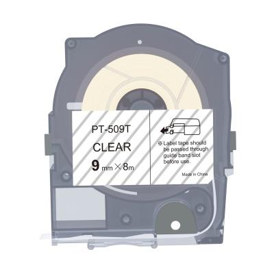 Max LM-509T, 9mm x 8m, transparent banda compatibila