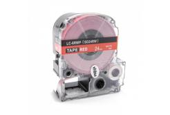 Epson LC-SD24RW, 24mm x 8m, text alb / fundal rosu, banda compatibila