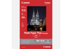 "Canon Photo Paper Plus Semi-Glossy, hartie foto, pololucios, saténový, alb, 10x15cm, 4x6"", 260 g/m2, 5 buc., 1686B072, inkoustový"
