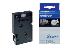 Brother TC-101, 12mm x 7,7m, text negru / fundal transparent, banda original