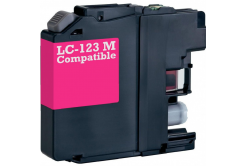 Brother LC-123 purpuriu (magenta) cartus compatibil