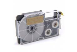 Banda compatibila Casio XR-9GD1 9mm x 8m text negru / fundal auriu