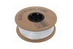 Popisovací PVC bužírka kruhová BA-42UL, 4,2mm, UL, bílá, 80m