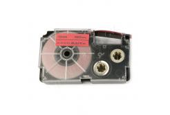 Casio XR-12FRD , 12mm x 8m, černý tisk / signální červený podklad, kompatibilní páska
