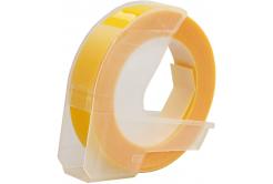 Dymo Omega, 9mm x 3m, text alb / galben negru, banda compatibila