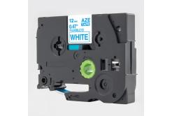 Banda compatibila Brother TZ-FX233 / TZe-FX233, 12mm x 8m, flexi, text albastru / fundal alb