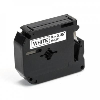 Banda compatibila Brother MK-221, 9mm x 8m, text negru / fundal alb