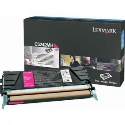 Lexmark C5242MH purpuriu (magenta) toner original