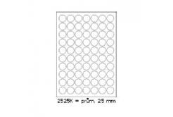 Etichete autoadezive 25 x 25 mm, 70 de etichete, A4, 100 coli