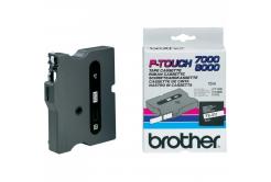 Brother TX-211, 6mm x 15m, text negru / fundal alb, banda original