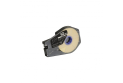 Bandă adezivă compatibilă pentru Canon M-1 Std/M-1 Pro / Partex, 12mm x 30m, kazeta, alb