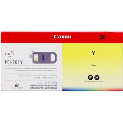 Canon PFI-701Y galben (yellow) cartus original