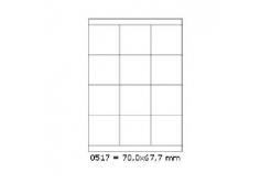 Etichete autoadezive 70 x 67,7 mm, 12 de etichete, A4, 100 coli