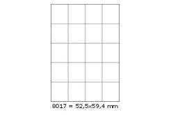 Etichete autoadezive 52,5 x 59,4 mm, 20 de etichete, A4, 100 coli