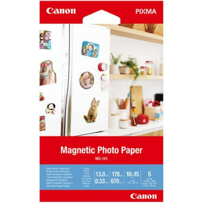 "Canon 3634C002 Magnetic Photo Paper, hartie foto, lucios, alb, 10x15cm, 4x6"", 670 g/m2, 5 buc"