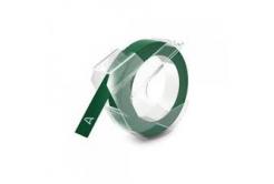Banda compatibila Dymo S0898160, 9mm x 3m, text alb / fundal verde