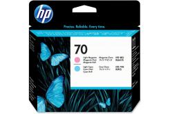 HP 70 C9405A azuriu deschis/purpuriu deschis (light cyan/light magenta) cap de imprimare original