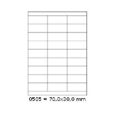 Etichete autoadezive 70 x 30 mm, 27 de etichete, A4, 100 coli