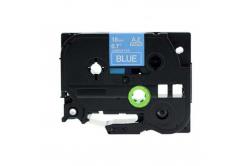Banda compatibila Brother TZ-545 / TZe-545, 18mm x 8m, text alb / fundal albastru