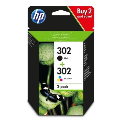 HP 302, X4D37AE multipack cartus original