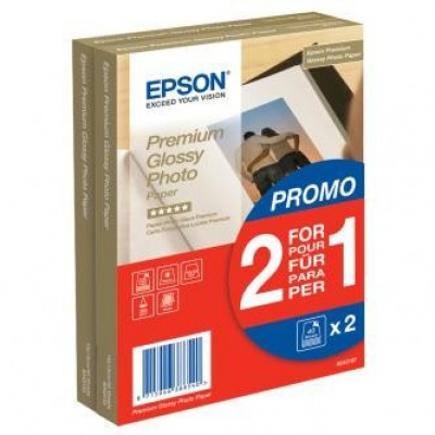 "Epson S042167 Premium Glossy Photo Paper, hartie foto, lucios, alb, 1+1, 10x15cm, 4x6"", 255 g/m2, 2x40 buc"