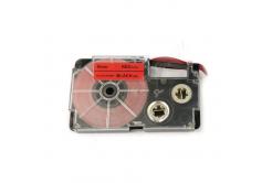 Casio XR-9FRD , 9mm x 8m, černý tisk / signální červený podklad, kompatibilní páska