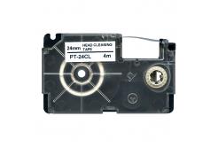 Casio XR-24CL, 24mm x 4m, text negru / fundal alb, curatenie, banda compatibila
