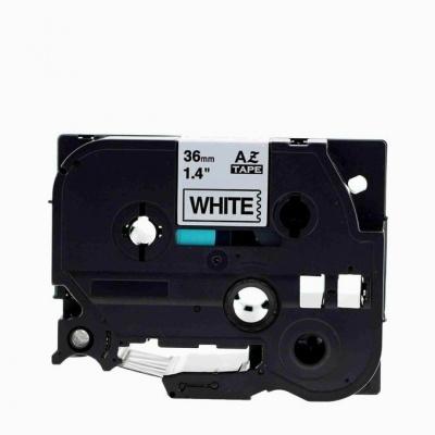 Brother TZe-V261, 36mm x 5,5m, text negru / fundal alb, vinyl, banda compatibila