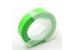 Dymo Omega, 9mm x 3m, text alb / fluorescenta fundal verde, banda compatibila
