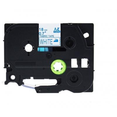 Bandă de călcat compatibilă Brother TZe-FA4, 18mm x 3m, albastru text / fundal alb
