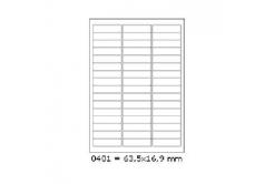 Etichete autoadezive 63,5 x 16,9 mm, 48 de etichete, A4, 100 coli