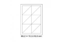 Etichete autoadezive 90 x 90 mm, 12 de etichete, A4, 100 coli