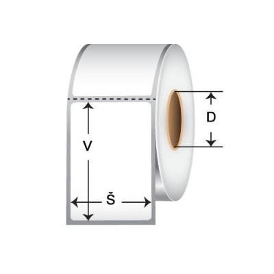 Samolepicí PP (polypropylen) etikety, 100x100mm, 1000ks, pro TTR, žluté, role