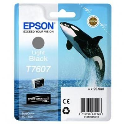 Epson T7607 T76074010 světle černá (light black) originální cartridge, výprodej