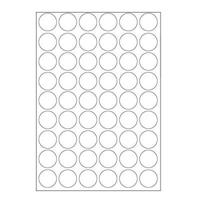 Etichete autoadezive 30 x 30 mm, 54 de etichete, A4, 100 coli