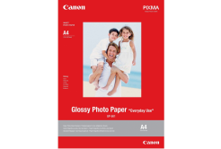"Canon GP-501 Glossy Photo Paper, hartie foto, lucios, alb, 10x15cm, 4x6"", 210 g/m2, 5 buc, 0775B076"